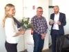 Verabschiedung von Schatzmeister Heinz Ließke, v.r.n.l Torsten Herbst (2. Vorsitzender), Heinz Ließke, Cindy Ehlert (1. Vorsitzende)