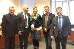 (v . l. n. r.)  Heinz Ließke, Torsten Herbst, Cindy Krebs, Torsten Schäfer, Rainer Grieger