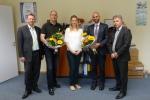 Vorstand in neuer Besetzung, v.r.n.l Rainer Grieger (Beauftragter für die Öffentlichkeitsarbeit), Torsten Herbst (2. Vorsitzender), Cindy Ehlert (1. Vorsitzende), Daniel Sauer (Schatzmeister), Torsten Schäfer (Schriftführer)